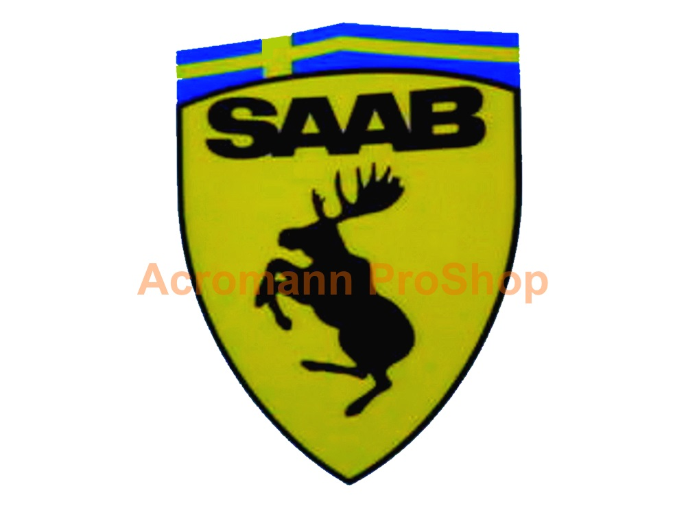 SAAB Prancing Moose 3.5inch Decal (Style#2) x 2 pcs