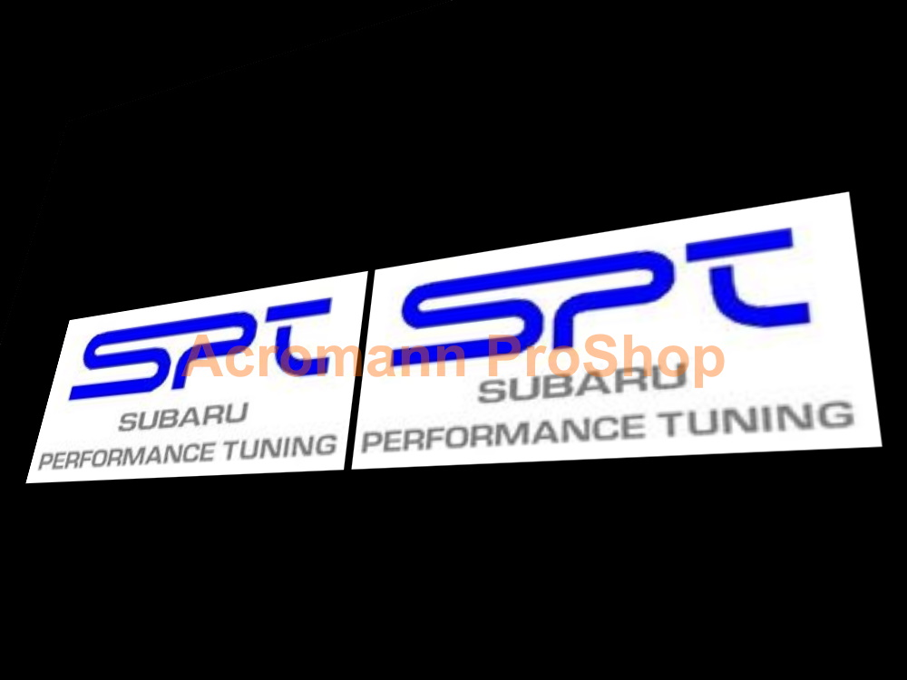 SPT Subaru Performance Tuning STi Fog Lamp Cover Decals Sticker
