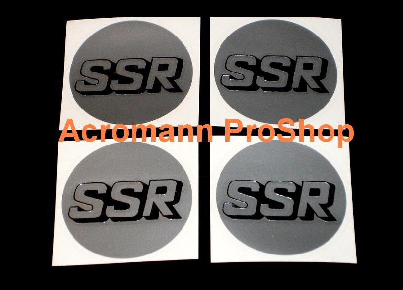 SSR 2.2inch Wheel Cap Decal (Style#1) x 4 pcs