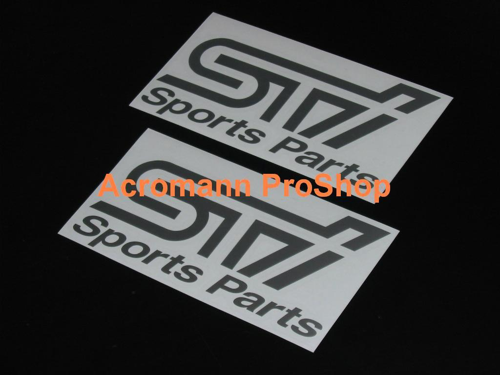 STi Sports Parts 6inch Decal x 2 pcs