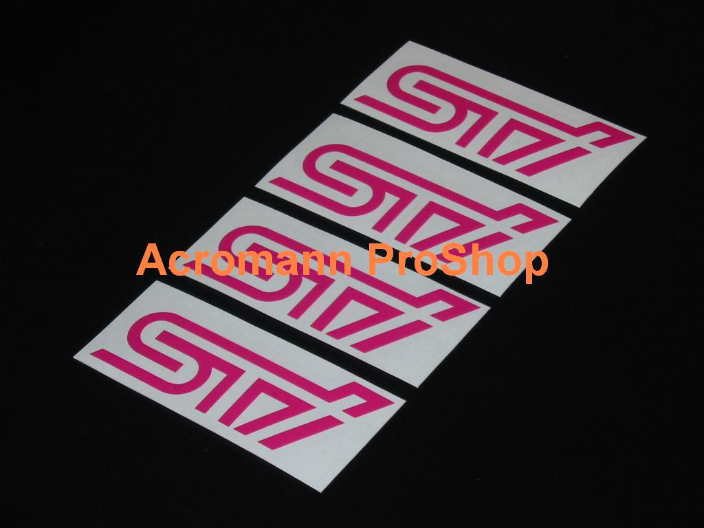 STi 3inch Alloy Wheel Decal x 4 pcs
