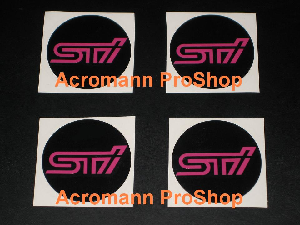 STi 2.2inch Wheel Cap Decal x 4 pcs
