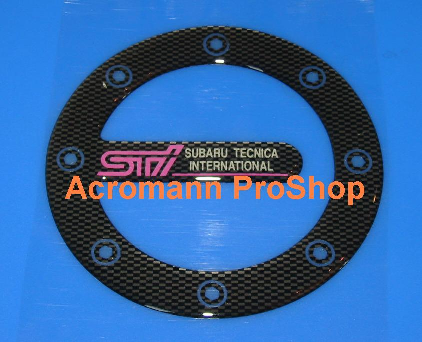 STi Carbon Gas Door Emblem (Style#2)
