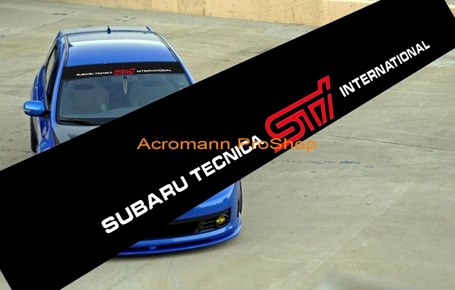 Subaru STi Windshield Decal (Style#4)