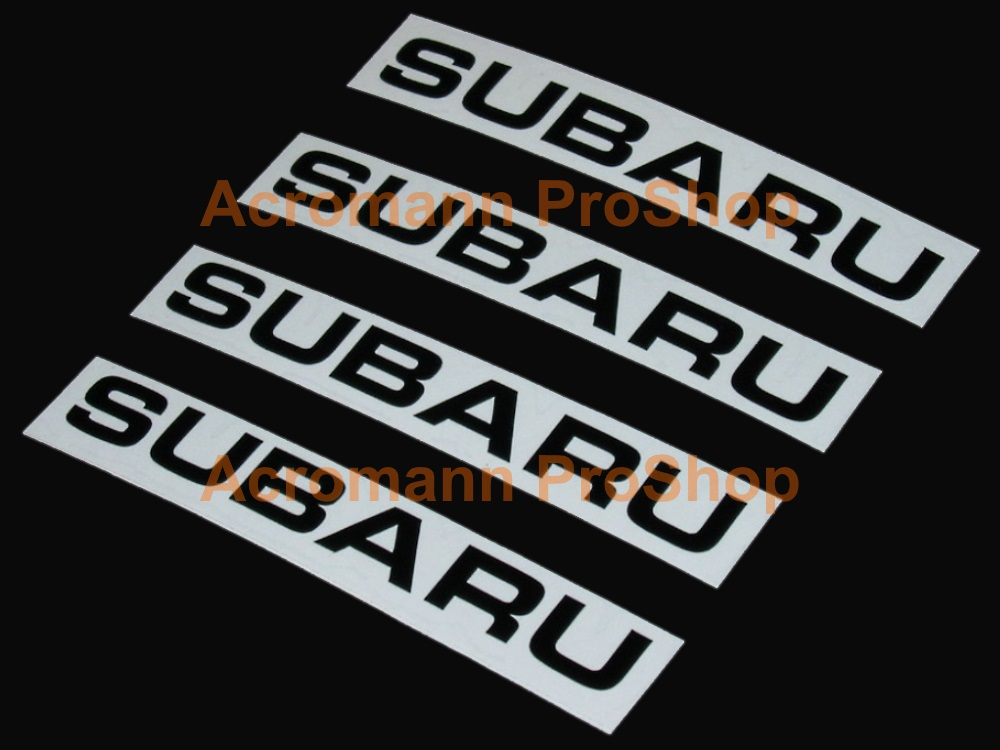 SUBARU 3inch Alloy Wheel Decal x 4 pcs