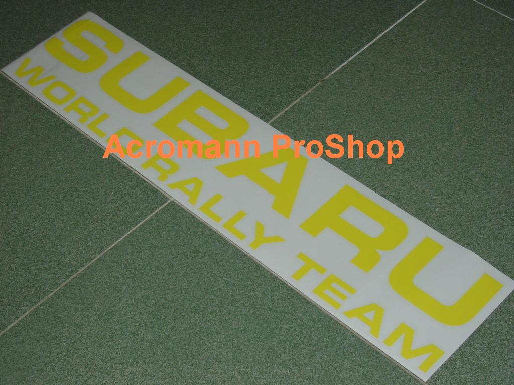 SWRT Subaru World Rally Team Bonnet Decal x 1 pc