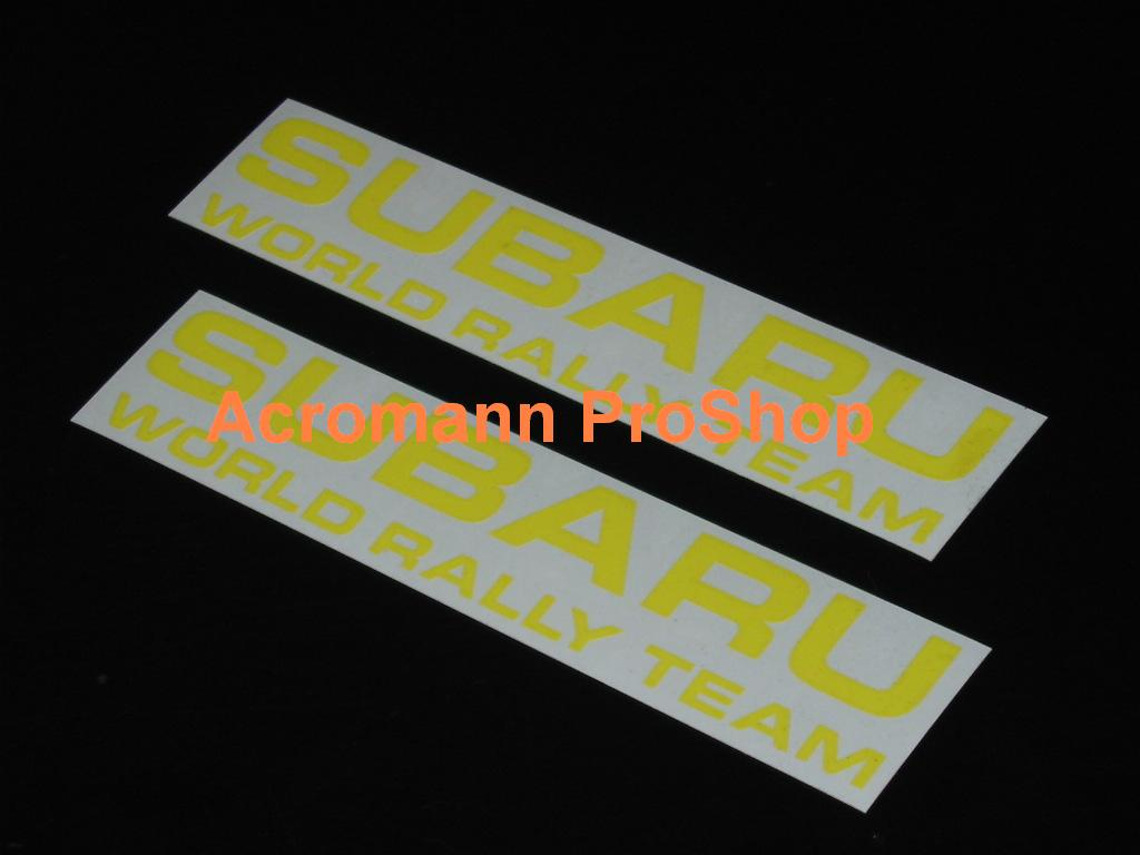 SUBARU SWRT V-Limited Fog Lamp 6inch Decal x 2 pcs