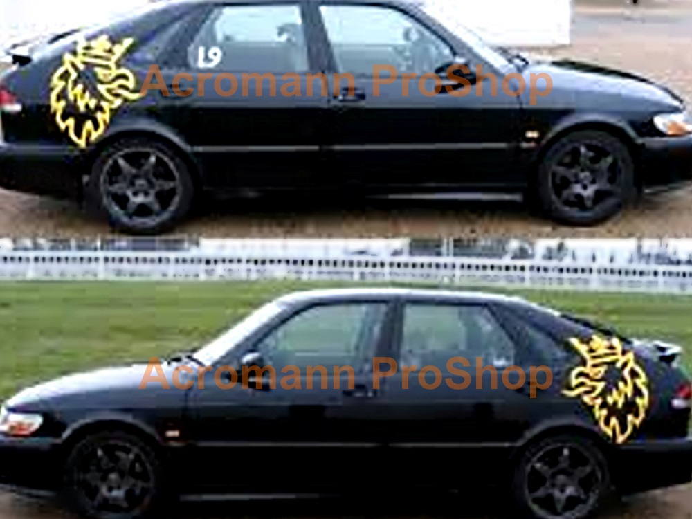SAAB Griffin (Bird) Side Door Decal (Style#1) x 1 pair (LHS&RHS)