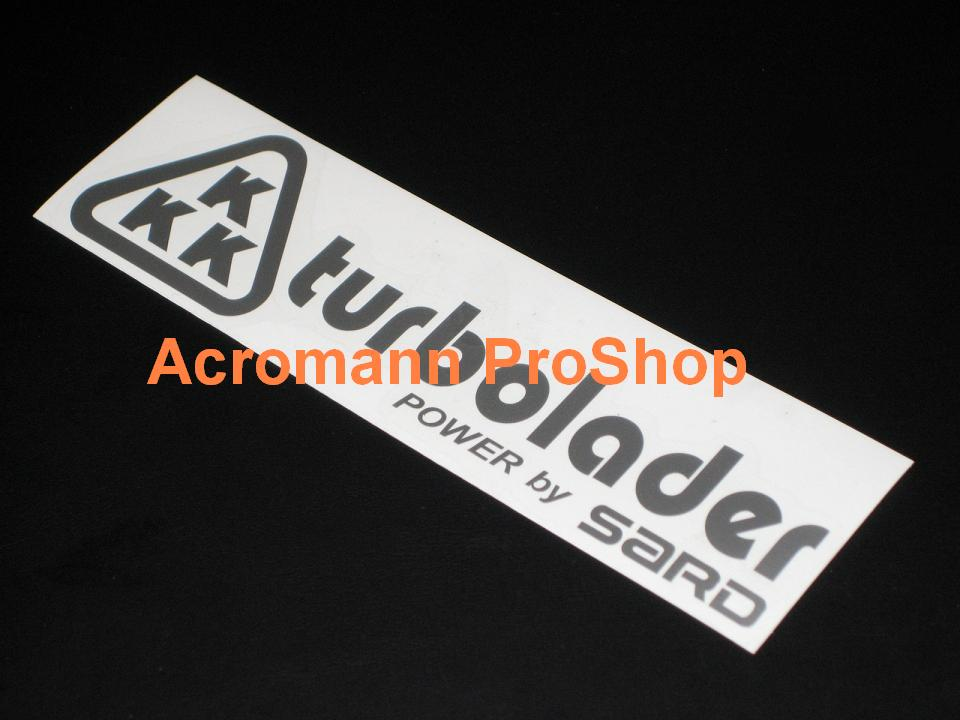 KKK turbolader (SARD) 6inch Decal x 2 pcs