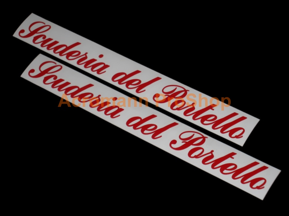 Scuderia del Portello 6inch Decal x 2 pcs