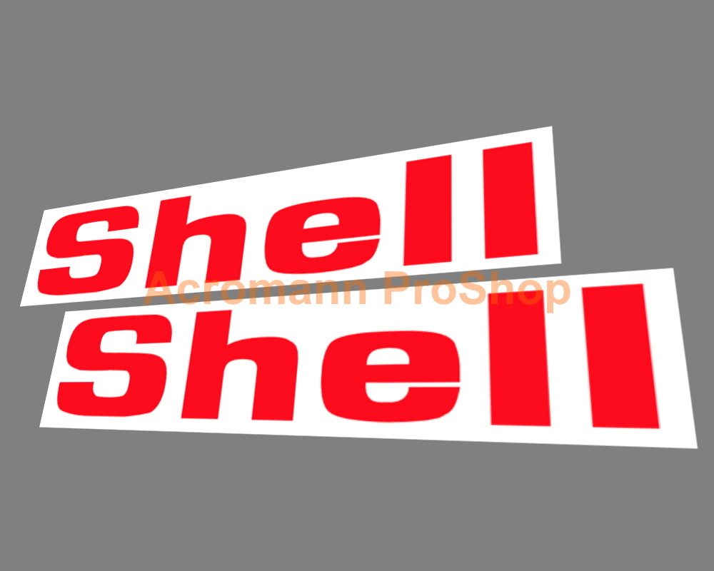 Shell Oil Gasoline Logo 3inch Decals Sticker (Style#2) x 2 pcs