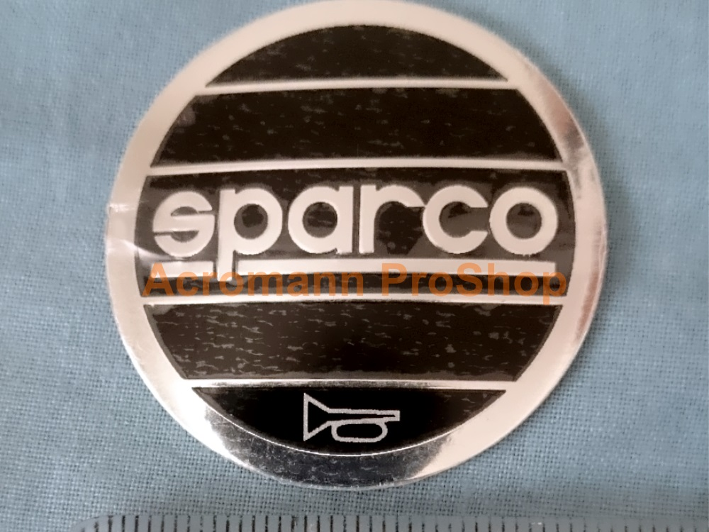 SPARCO 1.57inch Steering Wheel Horn Cap Decals Sticker x 2 pcs