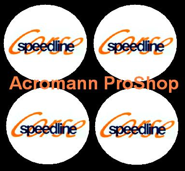 Speedline Corse 2.2inch Wheel Cap Decal x 4 pcs