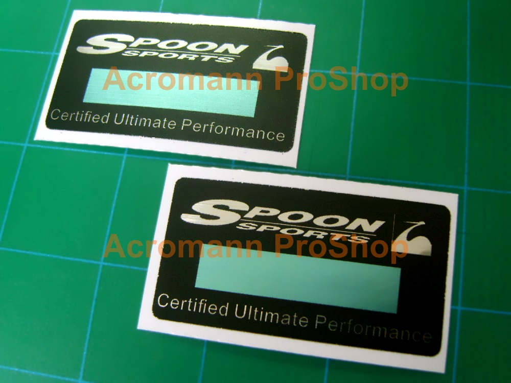 SPOON Sports Certified Serial Number 2.4inch Decal x 2 pcs