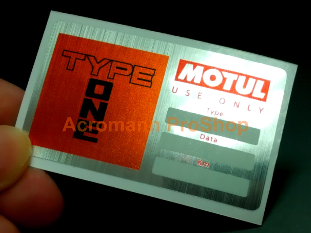 SPOON Type One Motul Service 2.4inch Decal x 2 pcs