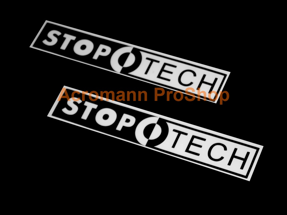 STOPTECH 6inch Decal (Style#2) x 2 pcs