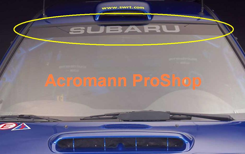 Subaru WRC '97 to '00 Style Windshield Decal (Style#3)