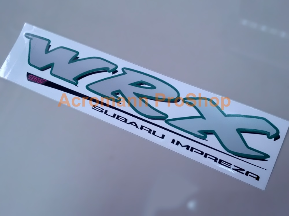 WRX STi Subaru Impreza Tailgate Trunk Decal (#1) x 1pc (die-cut)