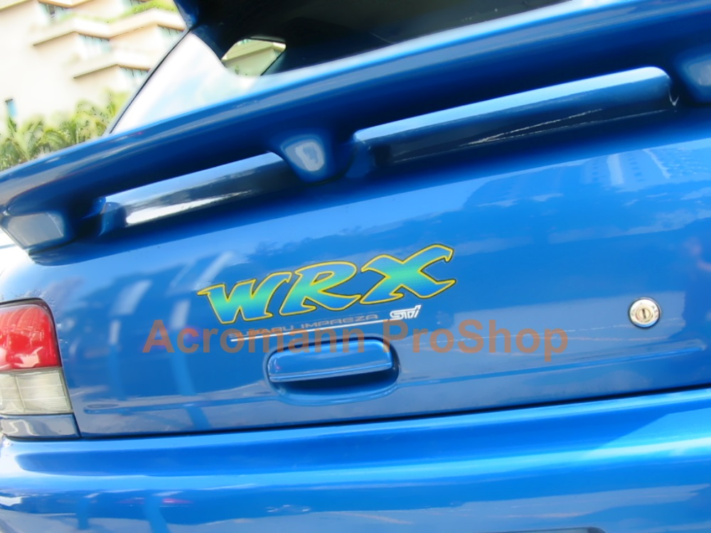 WRX STi Subaru Impreza Tailgate Trunk Decal (#4) x 1pc (die-cut)