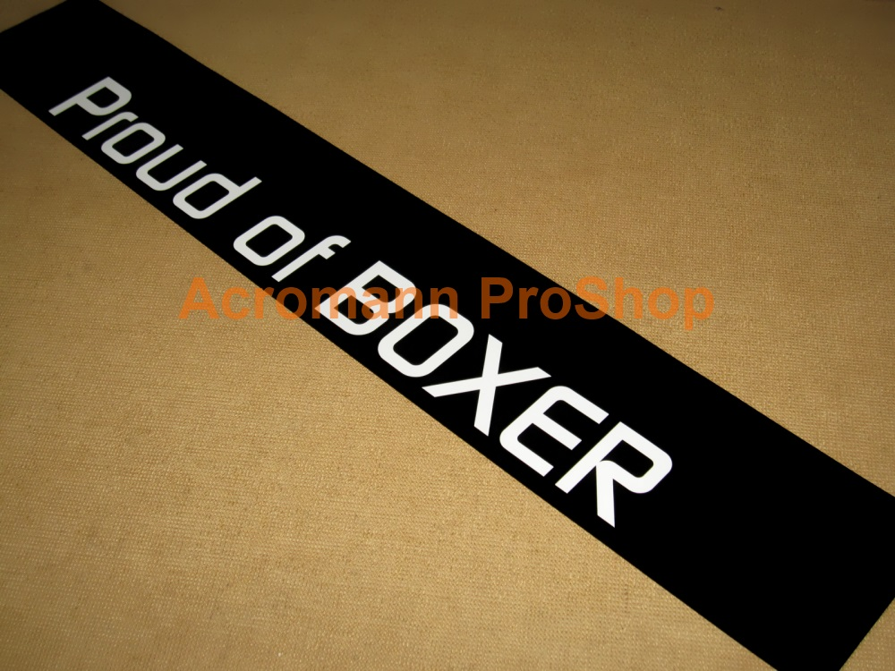 Subaru BRZ Proud of BOXER Windshield Decal (Style#2)