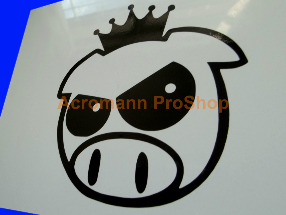 Scobby (Scooby) Rally Pig (SWRT) 4inch Decal (Style#5) x 2 pcs