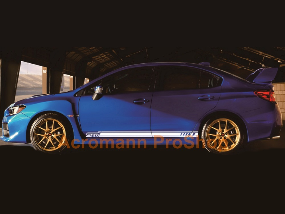 Subaru WRX STi SE Side Door Decal (Style#3) x 1 pair (LHS & RHS)