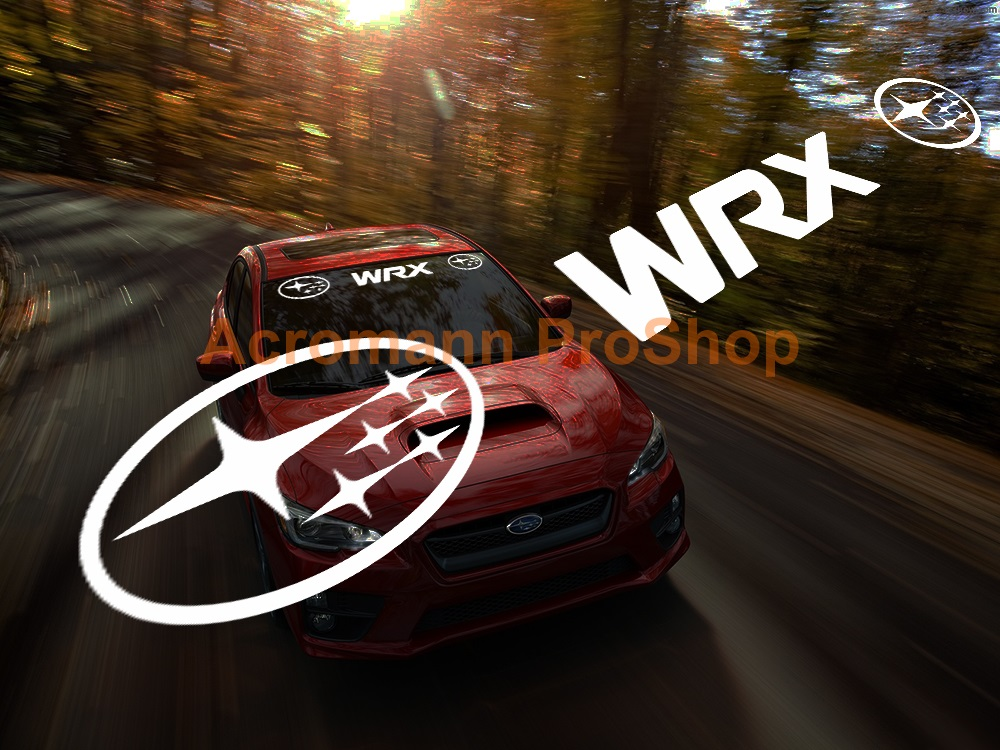Subaru WRX Windshield Decal (Style#7)