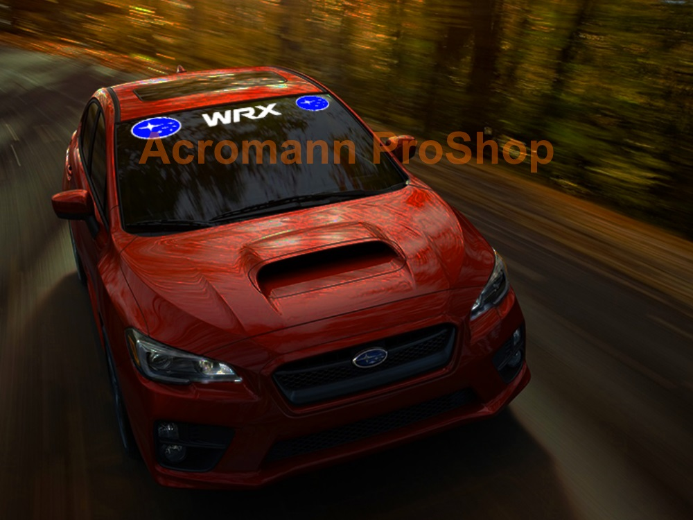 Subaru WRX Windshield Decal (Style#8)