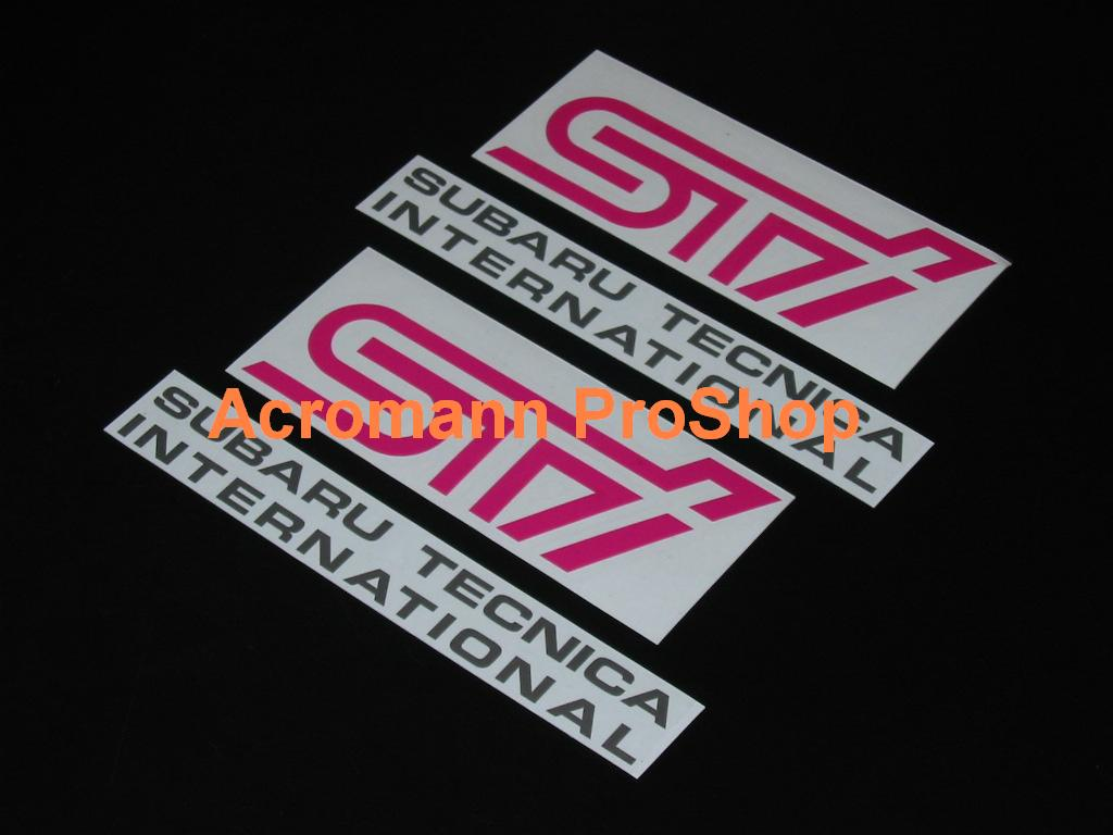 STi Subaru Tecnica Int'l Fog Lamp Decal (Style#1) x 1 pair
