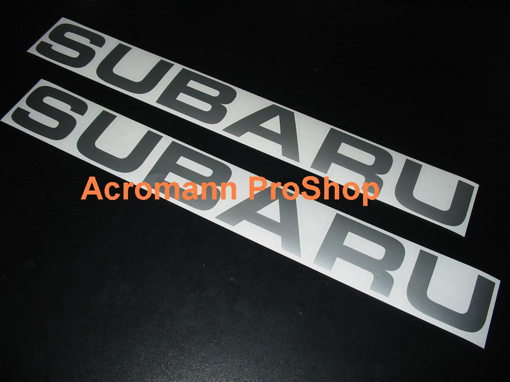 SUBARU lettering 6inch Decal x 2 pcs