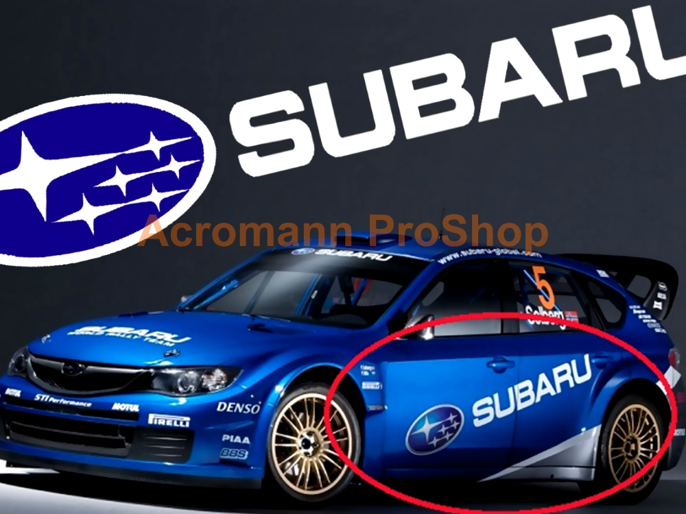 SUBARU Large Side Door Decal (Style#1) x 1 pair