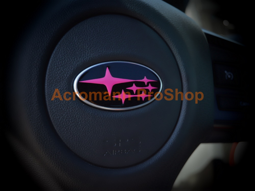 Subaru Stars 2.2inch Steering Wheel Emblem Decals Sticker x 2pcs