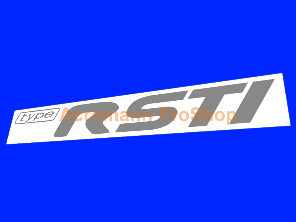 Type R STi 6inch Decal x 2 pcs