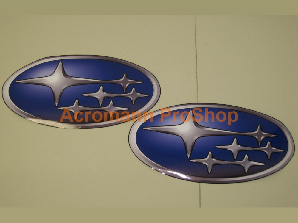 SUBARU Wing 6inch Printed Decal (Style#4) x 2 pcs