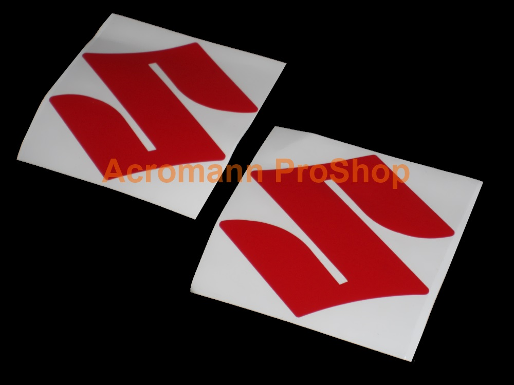 SUZUKI logo 3inch Decal x 2 pcs