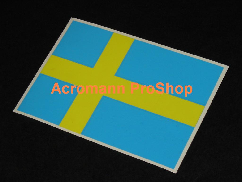Sweden Country Flag 5.25inch Decal x 1 pc
