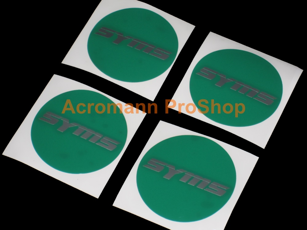 SYMS 2.2inch Wheel Cap Decal x 4 pcs