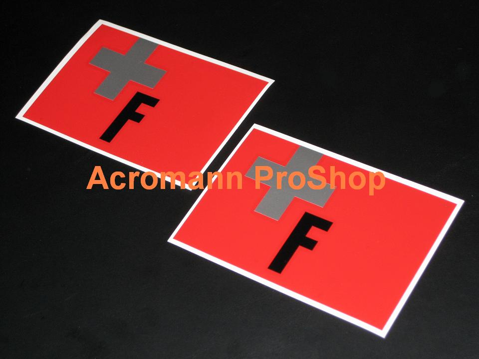 Top Fuel TF 5inch decal (Style#1) x 2 pcs