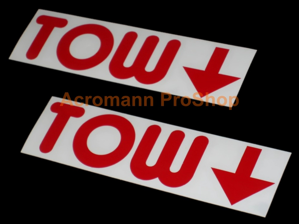 TOW Arrow 6inch Decal (Style#1) x 2 pcs
