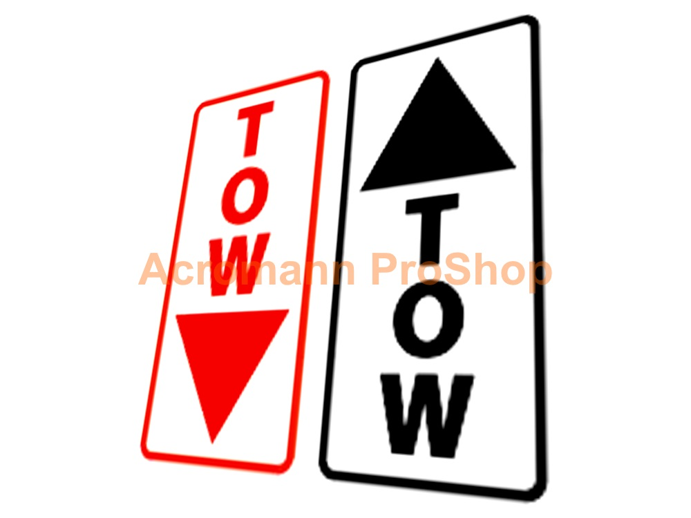 TOW Arrow 6inch Decal (Style#5) x 2 pcs