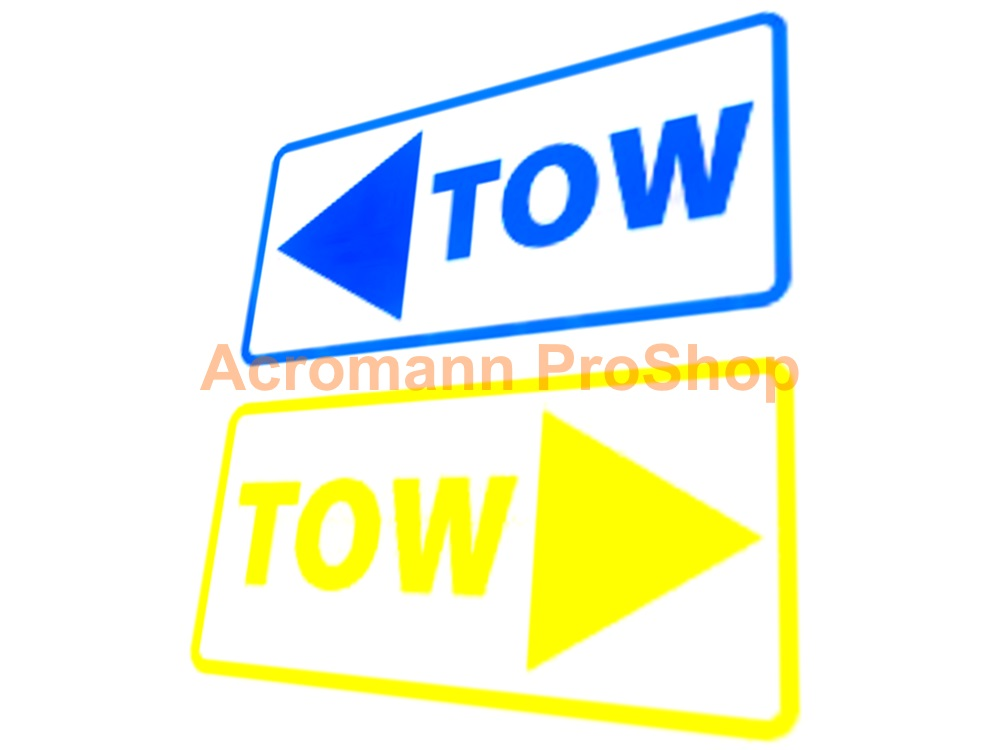 TOW Arrow 6inch Decal (Style#6) x 2 pcs
