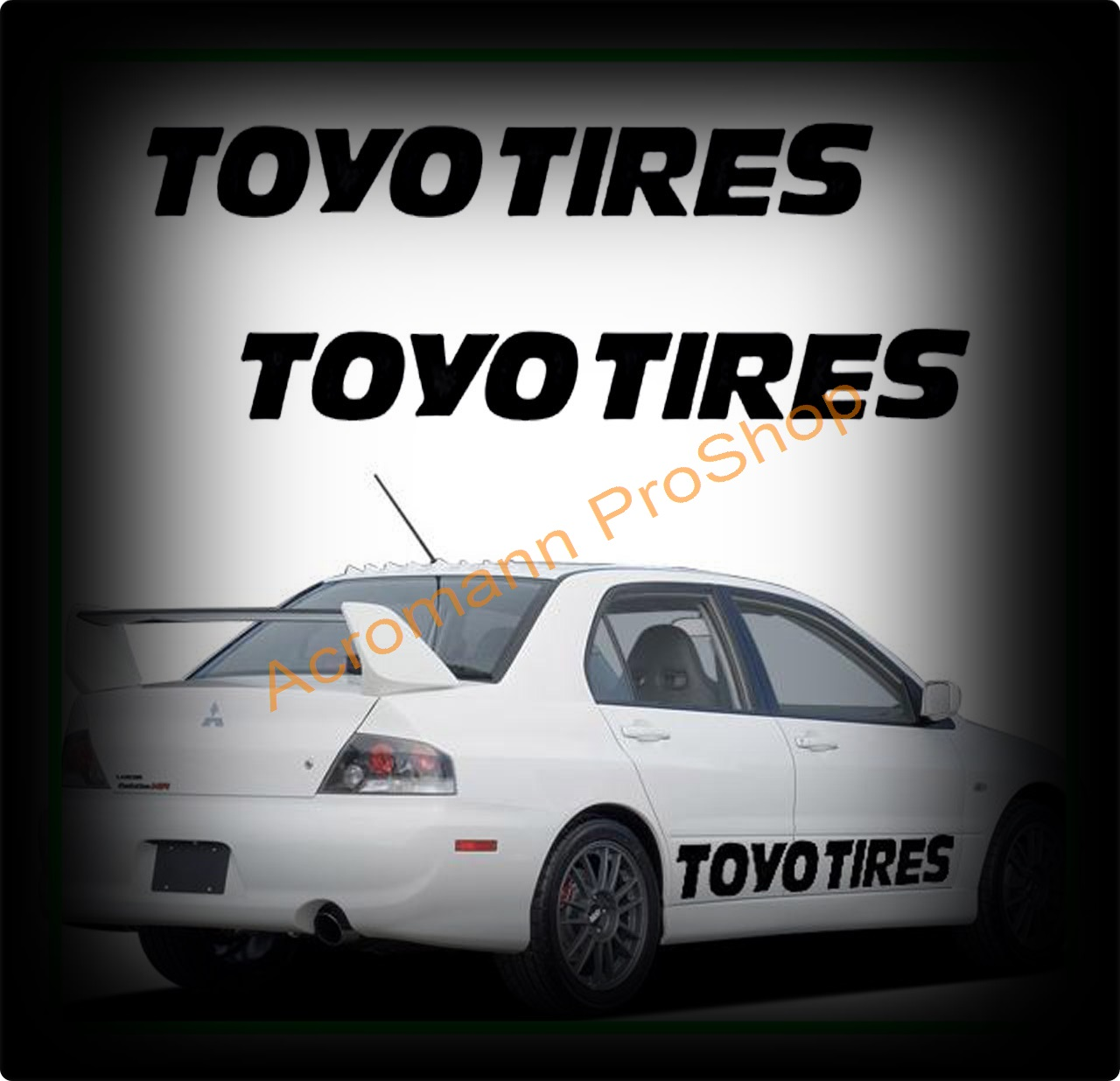 TOYO TIRES Large Side Door Decal x 1 pair (LHS & RHS)
