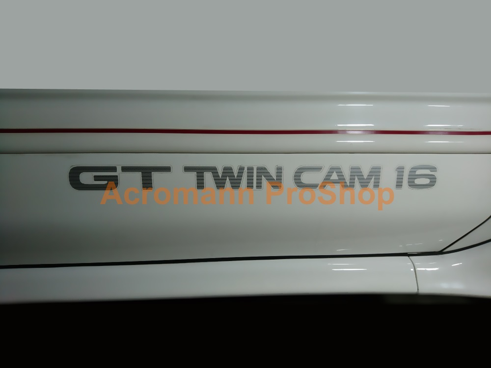Corolla FX GT Twin Cam 16 Side Door 24inch Decal (Style#1)x1pair