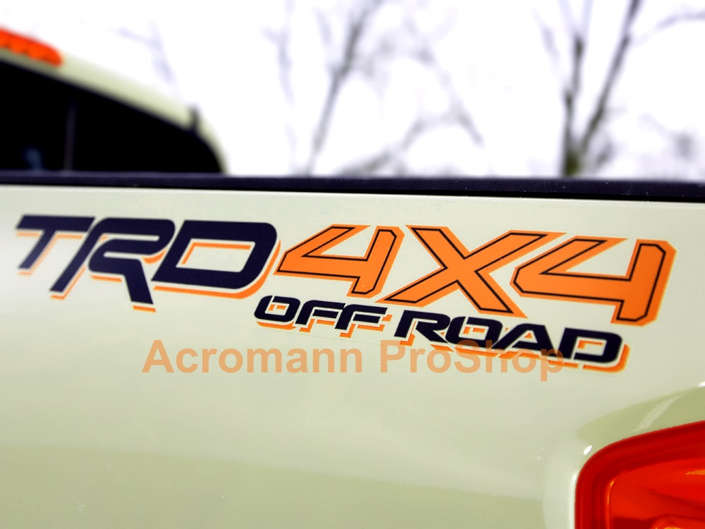 TRD 4x4 OFF ROAD 22inch decal x 2 pcs
