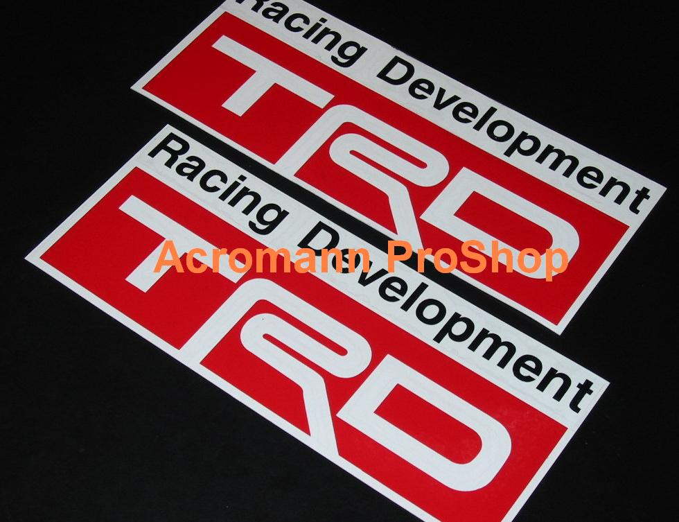 TRD 6inch Decal (Style#1) x 2 pcs