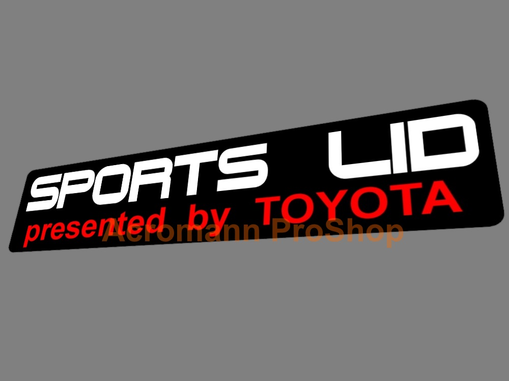 TRD SPORTS LID Toyota 6inch Decal x 2 pcs