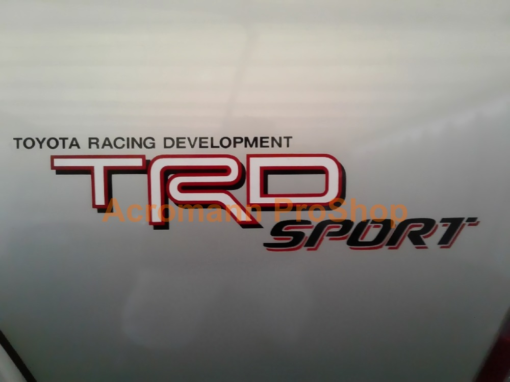 TRD Sport 16inch Decal (Style#1) x 2 pcs
