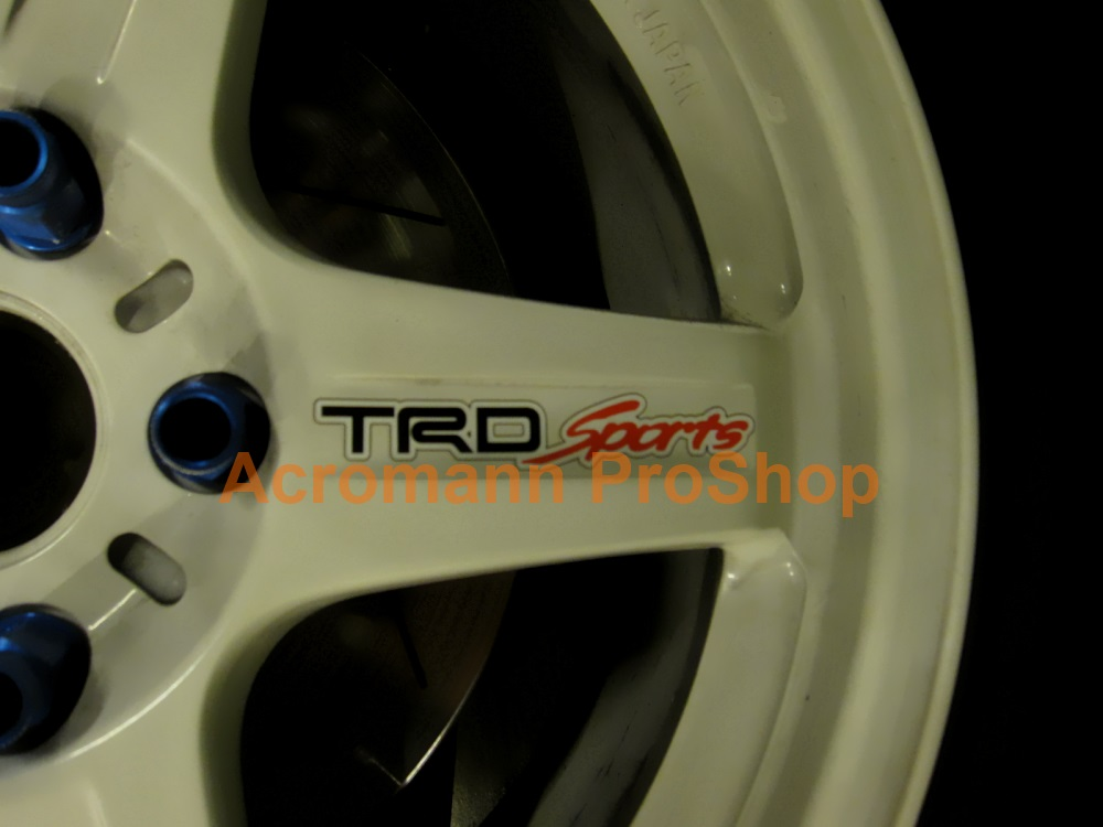 TRD Sports 4inch Alloy Wheel Decal x 4 pcs