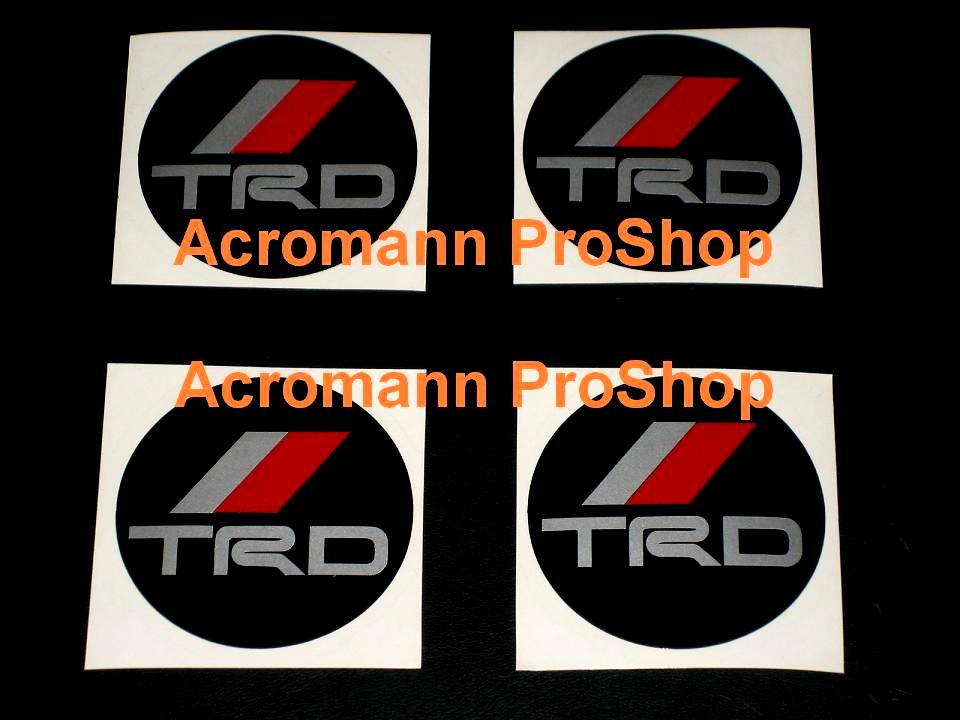 TRD 2.2inch Wheel Cap Decal x 4 pcs