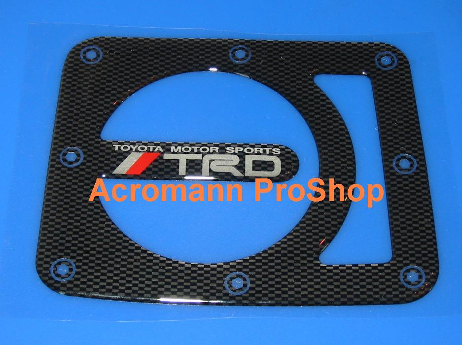TRD Carbon Gas Door Emblem (Style#1)